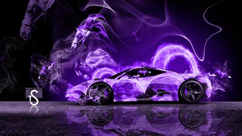Purple Ferrari Wallpaper