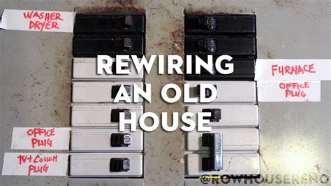 wiring old house rewiring an old house row house reno