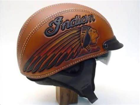 Indian Motorrad Helm by Motorcycle Helmet Tooled Leather Indian Motorcycle