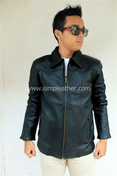 Jaket Kulit Ariel Black Bahan Premium jaket kulit pria casual tipe x107 simple leather