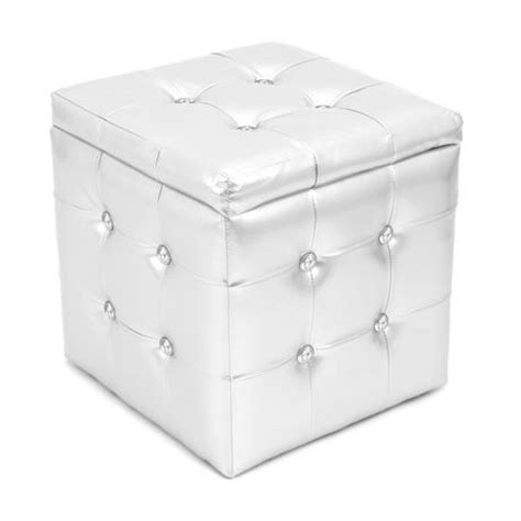 silver pouf ottoman lumisource silver pouf ottoman square walmart ca