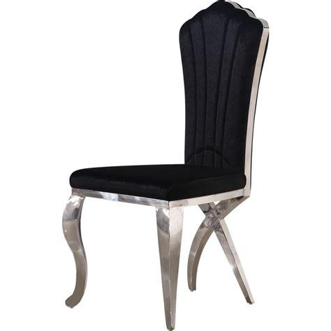 chaises baroques chaises baroques en inox comtesse lot de 2 chaises