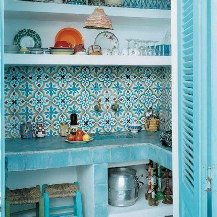 moroccan tile kitchen design ideas stile mediterraneo verde acqua per la tua casa al mare