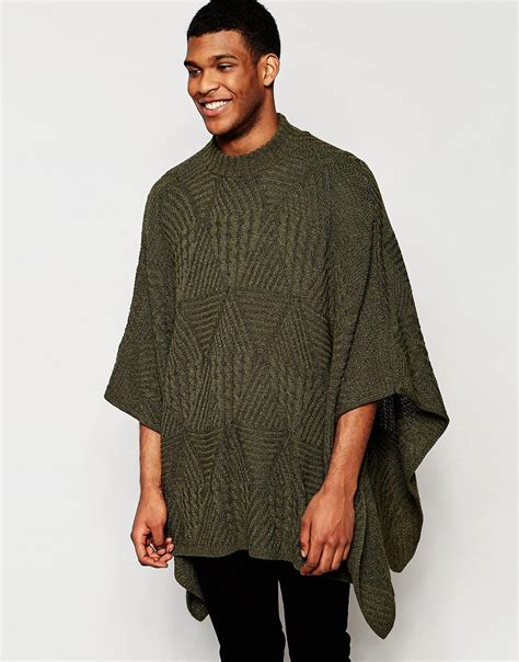 cable knit poncho asos asos cable knit poncho at asos