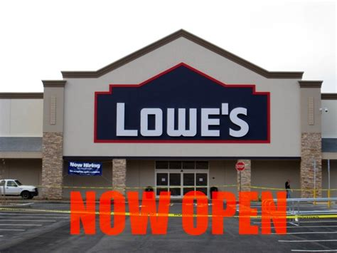 lowe s home improvement open in vallejo