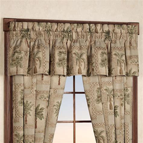 Palm Tree Kitchen Curtains Palm Grove Tropical Palm Tree Window Treatment