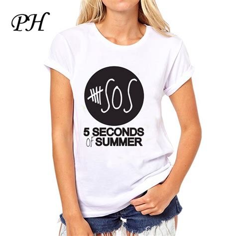 ph five 5 seconds of summer t shirts sleeve 5sos t shirt casual o neck