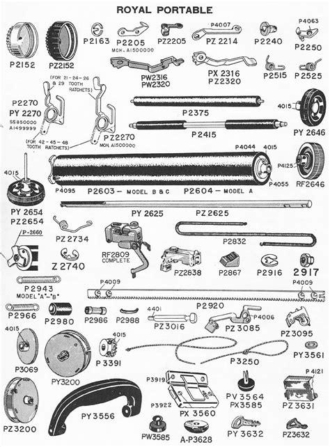 typewriter parts diagram royal carpet extractor manual carpet vidalondon