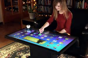 tisch mit touchscreen platform 46 is a android tablet you can serve coffee on