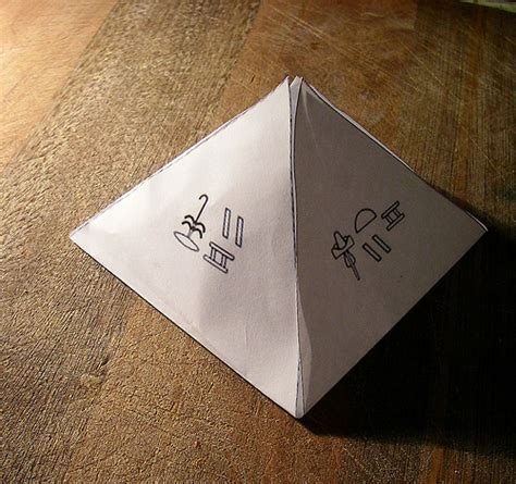 Make A Pyramid With Paper - how to make an pyramid