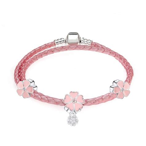 bracelet review pink pandora leather bracelet reviews shopping