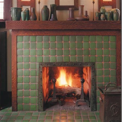 craftsman fireplace tile the of a craftsman home living dining room remodel