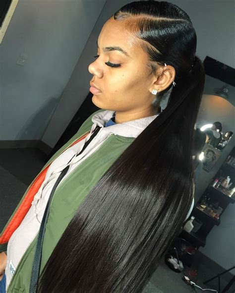 slick back weave hairstyles slick back weave hairstyles kayla phillip s slick back