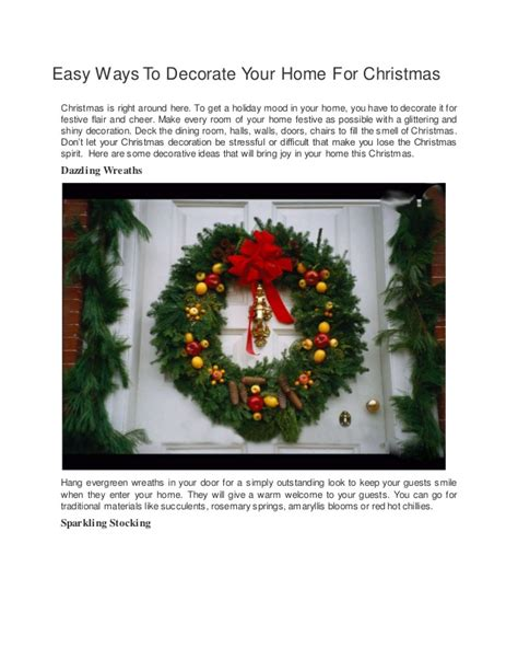 ways to decorate your home for christmas easy ways to decorate your home for christmas eblogline