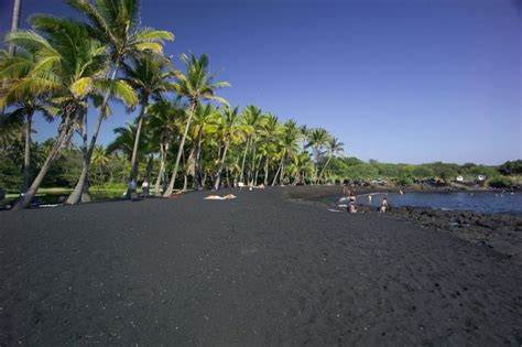 punaluu beach punaluu black sand beach obsidian stuff pinterest