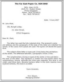 style of business letter did you know