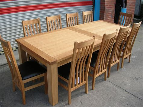 large dining room table seats 10 large oak dining room table seats 10 12 14 chairs ebay