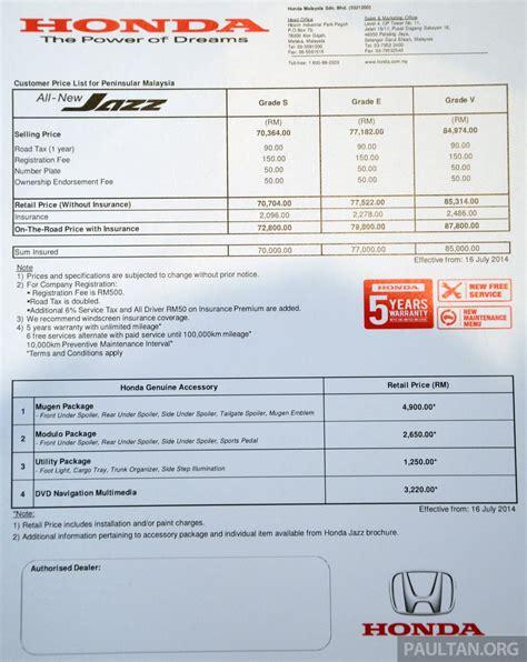honda jazz promotion malaysia honda price list 2014 malaysia honda jazz price list