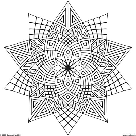 coloring pages geometric coloring page geometric
