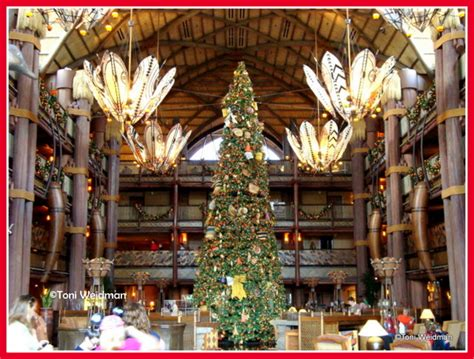 the christmas trees of disney world orlando