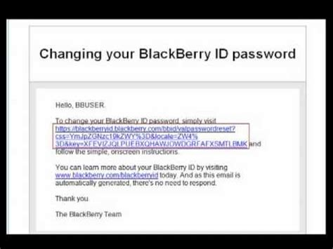 reset blackberry security password resetting your blackberry id password youtube