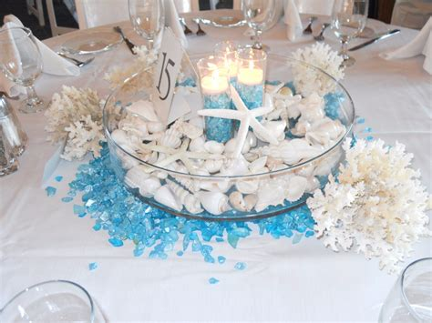 simple wedding centerpieces beach theme beautiful