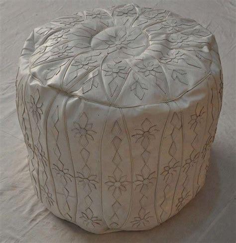 white leather pouf ottoman 25 best ideas about ottoman footstool on pinterest