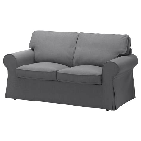 2 seater couch cover ektorp cover two seat sofa nordvalla dark grey ikea