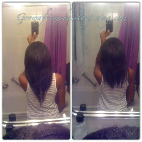 relaxed hair growth challenge relaxer trim update 25 weeks post grow african hair