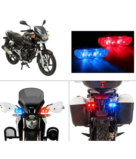 pulsar lighting price list speedwav bike sleek twin led police flasher lights bajaj