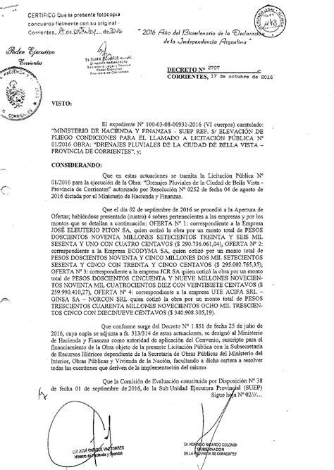pensionado por decreto 2016 portal del gobierno de corrientes decreto 2707 2016