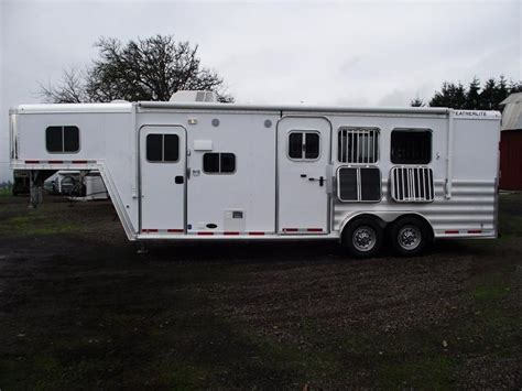 horse trailer awnings all inventory double j trailers inc horse trailers