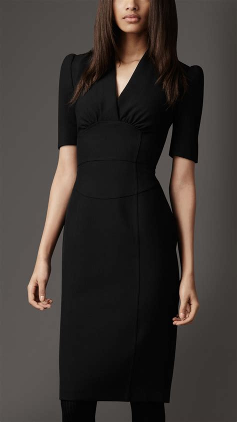 Dress Kahlila Black By Sisesa Clothing Burberry Structured Pencil Dress In Black Lyst