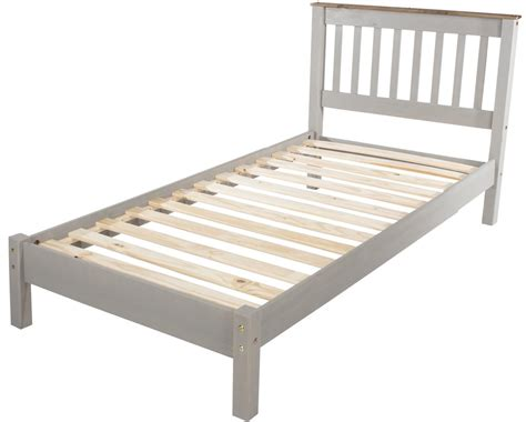 Abdabs Furniture Corona Grey Washed Single Bed Frame Bed Single Bed