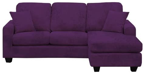 ashley furniture purple couch ashley 3 seater suede effect fabric corner chaise sofa