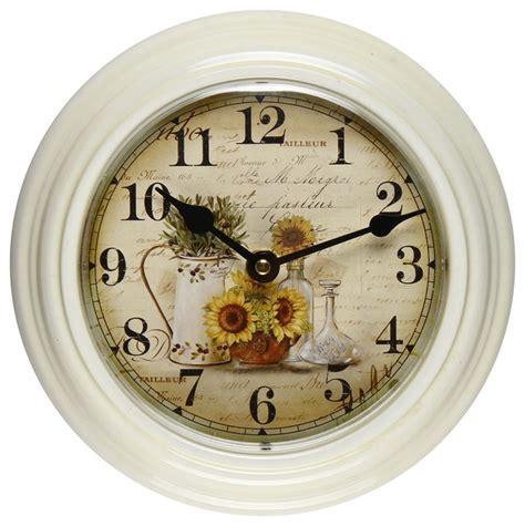 white farmhouse clock furnistars white iron vintage inspired wall clock