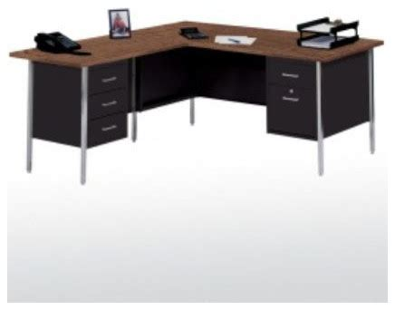L Shaped Desk With Right Return 42 Quot W L Shaped Executive Desk With Right Return Modern Home Office Products By Wayfair