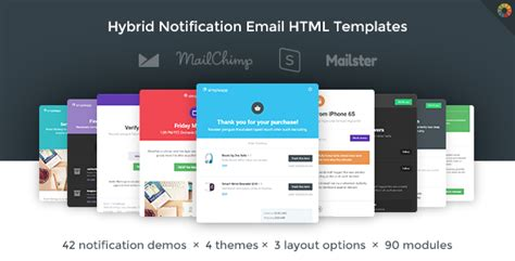 Simpleapp Hybrid Notification Email Html Templates By Webtunes Themeforest Custom Html Website Templates
