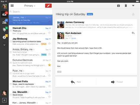 email layout on ipad gmail ios app gets ios 7 redesign new navigation bar on ipad