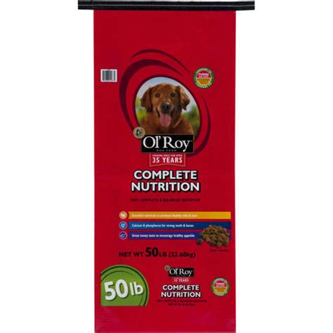 walmart puppy food ol roy complete nutrition food 50 lb walmart