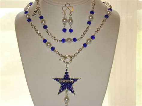 Handmade Jewelry Dallas - all handmade dallas cowboy jewelry set handmade by