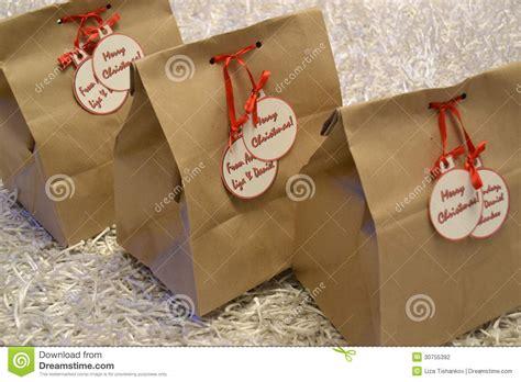 vintage christmas gift bags stock photo image 30755392