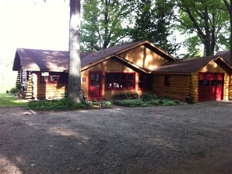 Silver Lake Mi Cabin Rentals by Authentic Log Cabin On Beautiful Silver Lake Vrbo