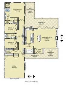 open floor plan ranch t shape layout ranch house plans nooks