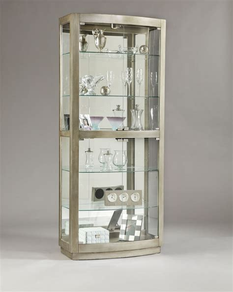 Pulaski Platinum Glass Door Curio Cabinet 21396 Glass Door Curio Cabinet