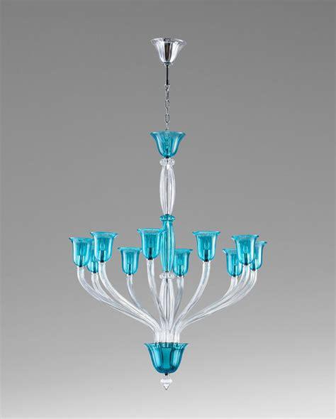 Vetrai 10 Light Teal Glass Chandelier By Cyan Design Teal Glass Chandelier