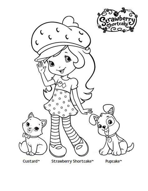 strawberry shortcake coloring pages games strawberry shortcake taking picture with her pet custard
