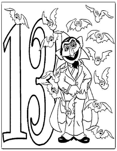 coloring pages for the number 13 number 13 coloring page az coloring pages