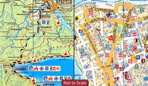 irkutsk map irkutsk plan lake baikal tourist map stanfords