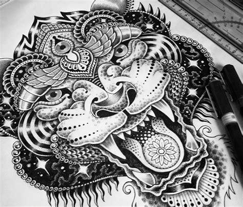 panda tiger tattoo image result for mandala black and white panda tattoos